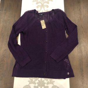 NWT American Eagle medium purple cardigan